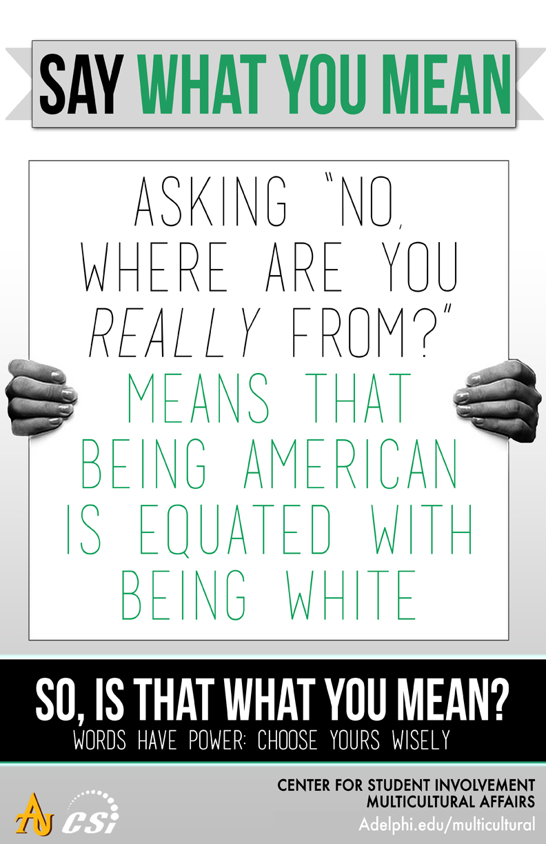 Say What You Mean - Where are you Really From